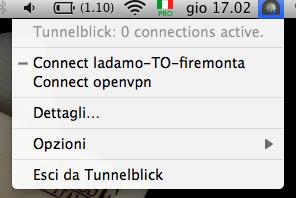Connessione OpenVPN Mac OS X