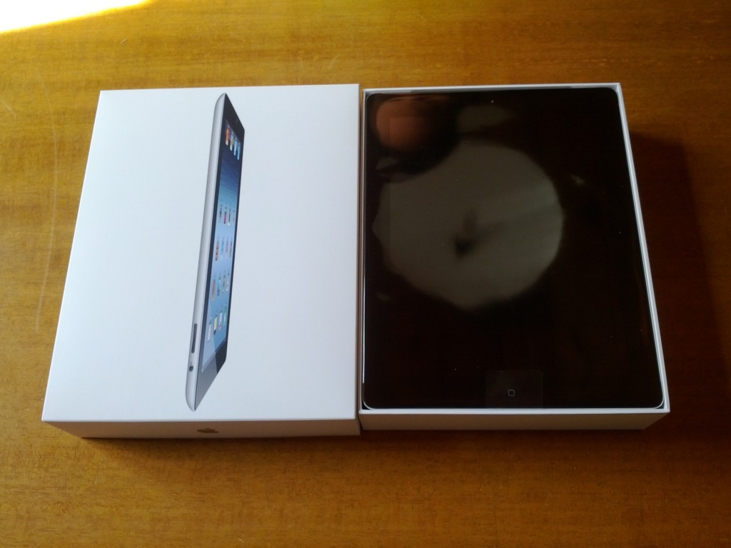 iPad3, la scatola aperta