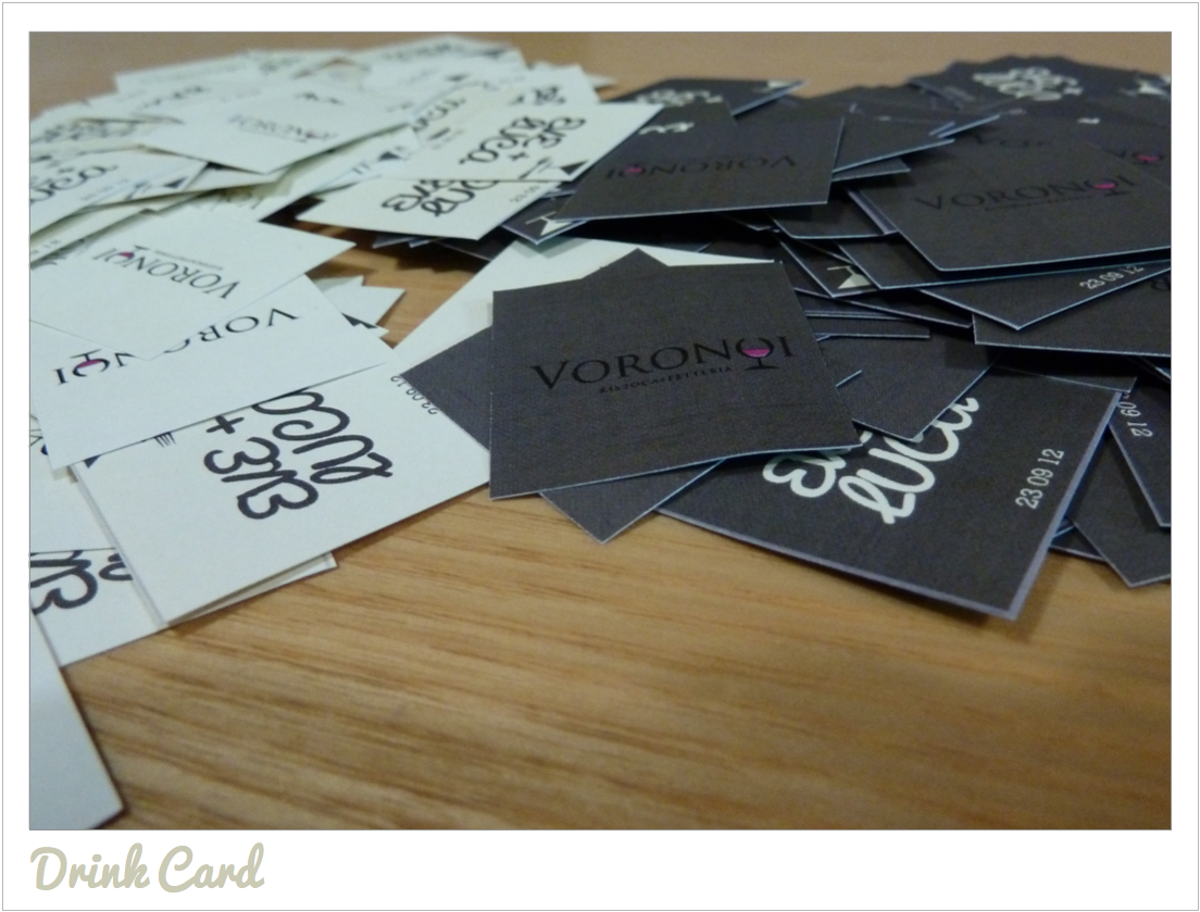 Drink Card per Matrimonio