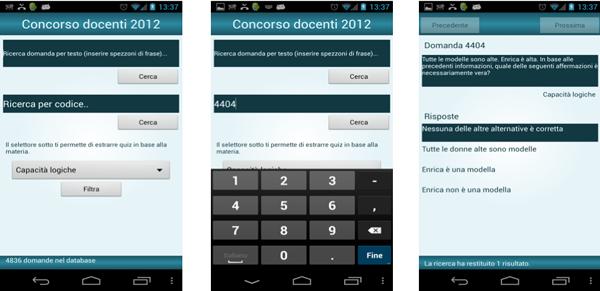 Concorso Scuola 2012 App Android