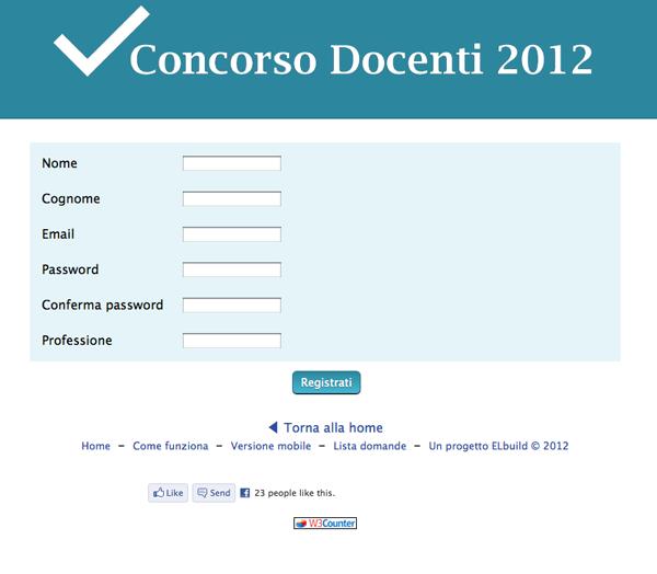 Login registrazione concorso docenti 2012