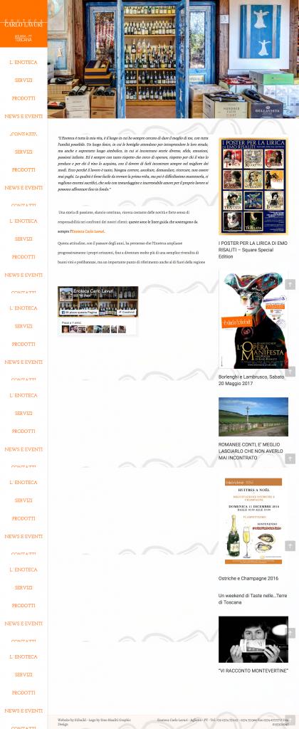 Homepage sito web Enoteca Carlo Lavuri