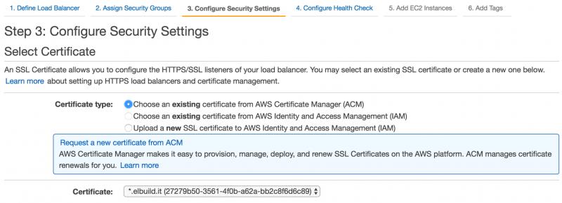 Creazione load balancer AWS | Associazione certificato SSL