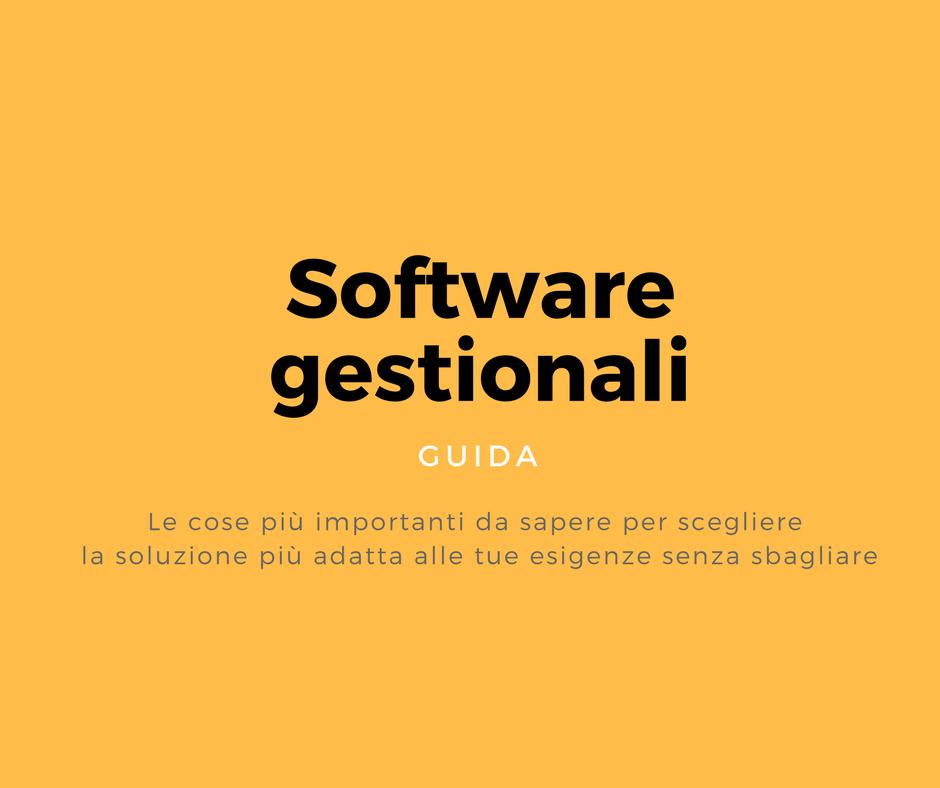 software gestionali guida